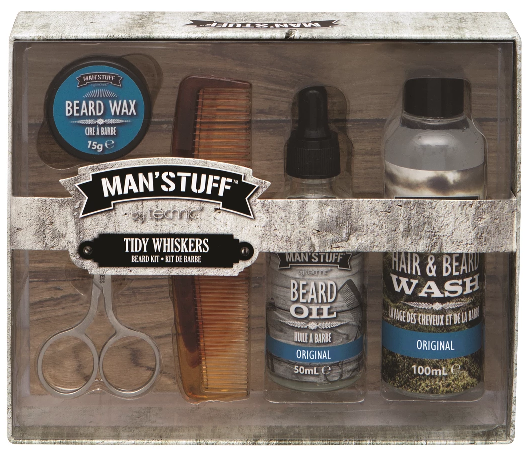Christmas Gift Sets For Men.Technic Man Stuff Tidy Whiskers Christmas Gift Set
