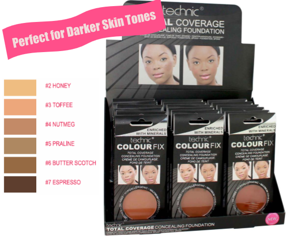 Technic Total Coverage Concealing Foundation Dark 1x18