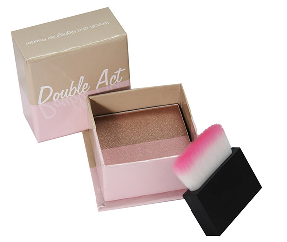 W7 Double Act Bronzer & Highlighter 1x1