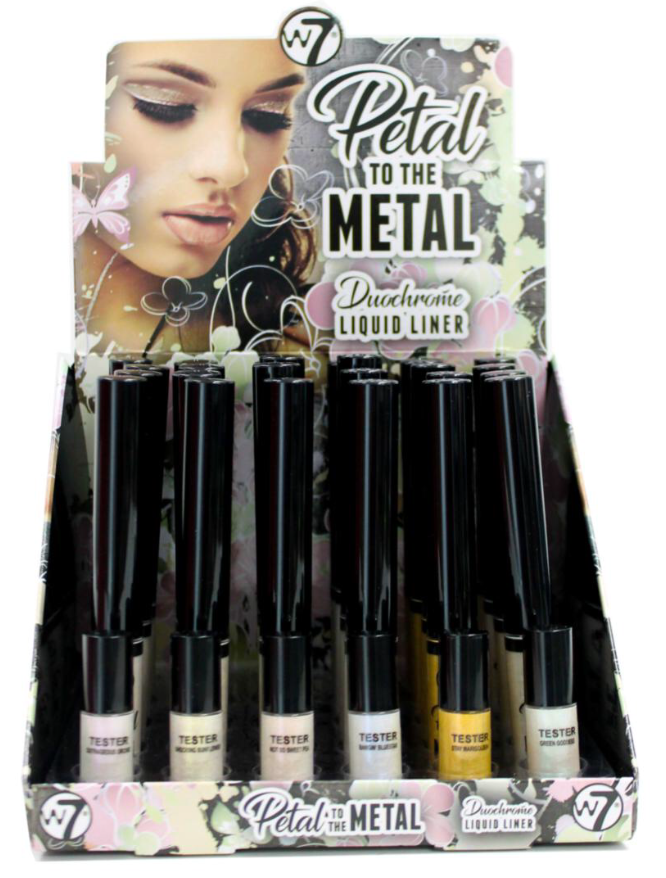 W7 Petal To The Metal Duochrome Liquid Eyeliner 1x24