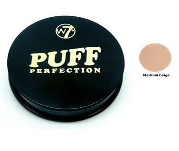 W7 Puff Perfection Compact Pressed Powder Medium Beige