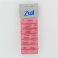 Zeal Medium Pink Pin Rollers 7 Pack