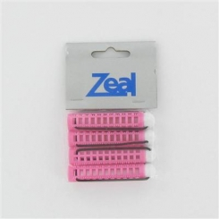Zeal Small Pink Bobble Rollers 4 Pack