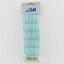 Zeal Small Turquoise Self Grip Rollers 6 Pack