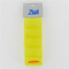 Zeal Small Yellow Self Grip Rollers 5 Pack